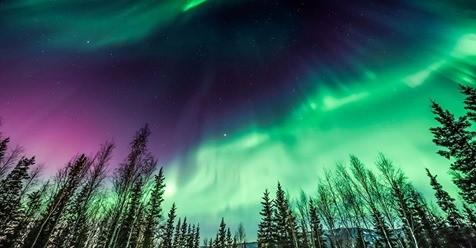 Kuzey Işıkları yine büyüledi