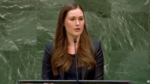 Başbakan Sanna Marin BM Toplantısında Tarih Yazdı